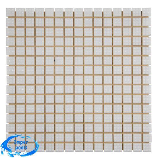 Стеклянная мозаика 2х2 белая Aquaviva А20N(1)